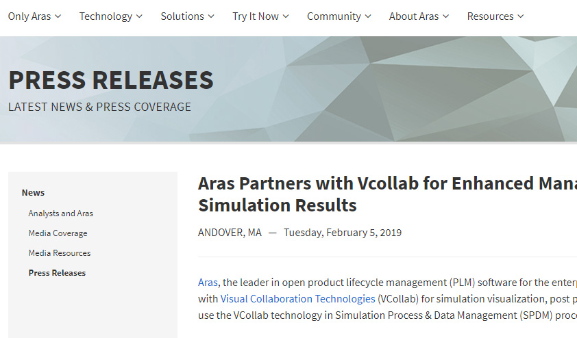 Aras Partners with VCollab
